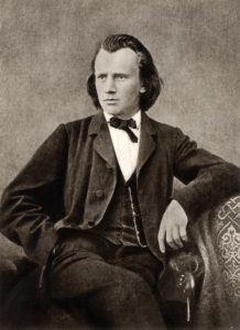 A young Johannes Brahms sits defiantly enough to inspire a teaching artist nightmare
