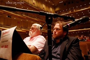 Chris Rouse and Jesse Jones listen at New York Philharmonic Ear Shot