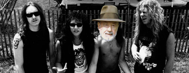 Cliff Burton Era Metallica Photo with Charles Ives Head