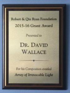 Robert F Ryan and Qin C Ryan Foundation Composition Award