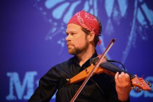 David Wallace performing on his six-string Wood Violins Viper viola